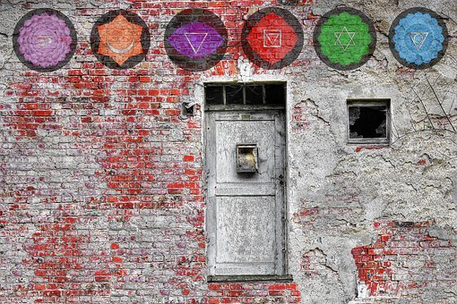 Mandala, Chakra, Brick, Wall, Door, Vintage, Meditation