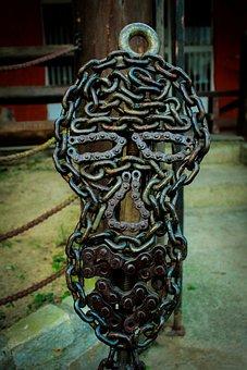 Sculpture, Face, Art, Crafts