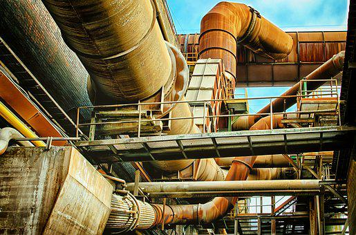 Lost Places, Factory, Pipes, Steel Mill, Industry