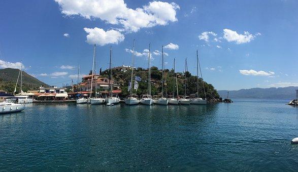 Greece, Marina, Sailboats, Boats, Masts, Boat