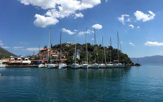 Greece, Sailing Boat, Boat, Port, Ship, Boats, Boating