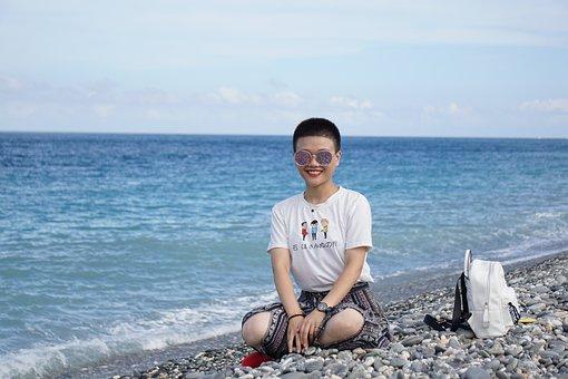 Peaceful, Happy, Sea, Sunshine, Harmony, Wellness
