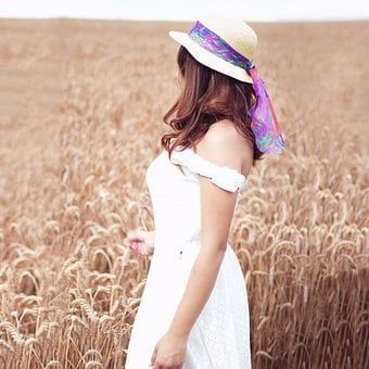 Field, Hat, Vintage, Cereals, Sun Protection, White