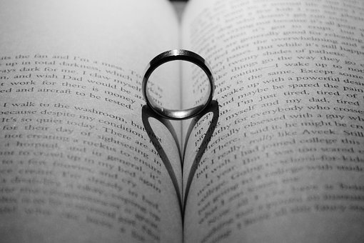 Love, Ring, Golden, Marriage, Romantic, Gift, White