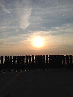 Sun, Sea, Sunset, Abendstimmung, Romantic, Landscape