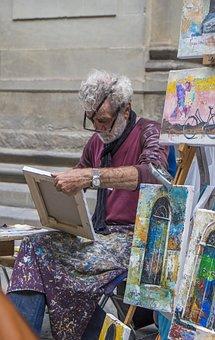 Painter, Art, Firenze, Street Artist