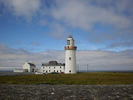 Ireland, Travel, Lighthouse, Place, Places, Landscape