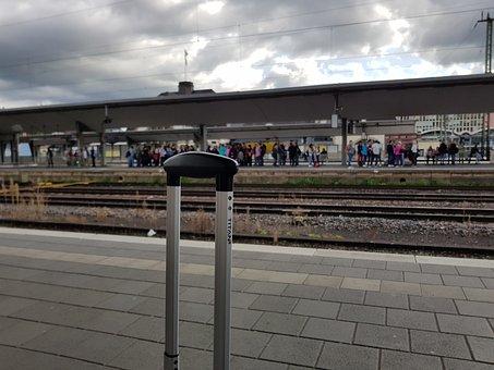 Railway Station, Wait, Platform, Travel