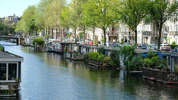 Amsterdam, Holland, Channel, Bike, Downtown, Old Town