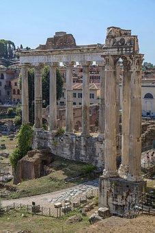 Ancient Rome, Columns, Forum Romarum, Capitolijn, Ruin