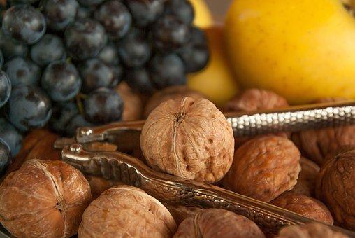 Nutcracker, Grape, Vine, Apples, Nuts, Autumn Fruits