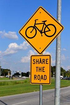 Bike Lane Sign, Share The Road, Bicycle, Road, Bike