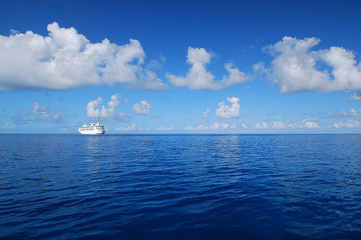 Cruise Ship, Ship, Blue Sea, Blue Sky, Cruise, Travel