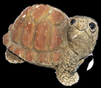 Turtle, Figure, Weel, Ceramic, Homemade, Deco