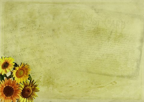 Flowers, Map, Background Image, Music, Greeting Card