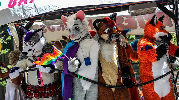 Furry Friends, Pride Parade, San Francisco, Colorful
