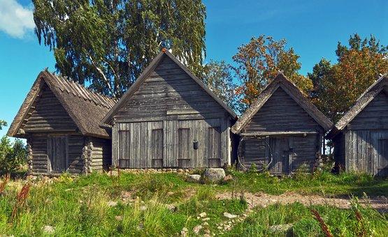Fishing Village, Fisherman's Hut, Historically
