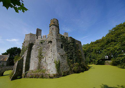 Castle, Pirou, Moat, Tower, Pierre, Medieval, History