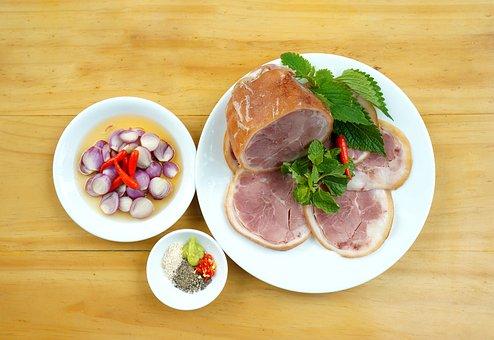Food, Pork, Vegetables, Onion, Salt, Chili, Lemon