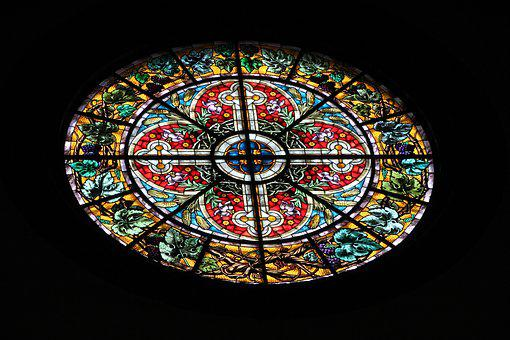 Mosaic, Church, Window, Religion, Church Window