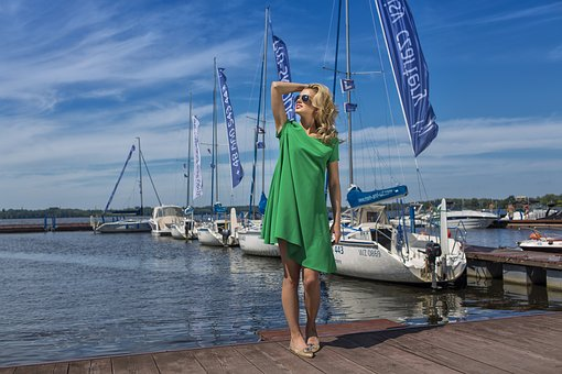 Water, Dress, Woman, Ms, Beauty, Young, Sails, Lagoon