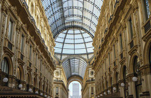 Milan, Gallery, Shopping Street, Dome, Arc, Building