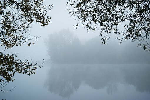 Fog, Lake, Mysterious, Mystical, Island, Rest, Silent