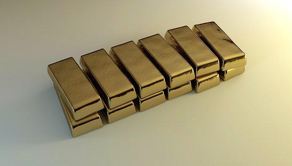 Gold, Bars, Bullion, Feingold, Wealth, Profits, Values