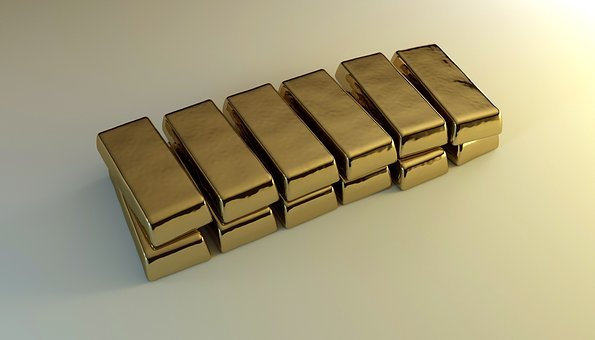 Gold, Bars, Bullion, Feingold, Wealth, Profits, Values