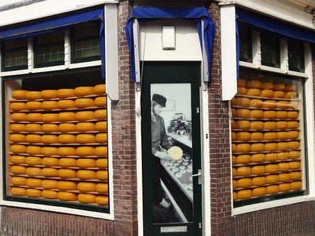 Showcase, Cheese, Netherlands, Holland, Amsterdam