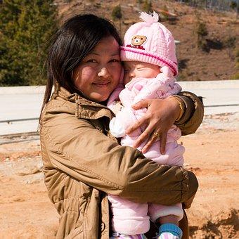 Bhutanese, Mother, Baby, Love, Asian