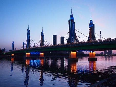 At Dusk, Bridge, The Grand Canal, Blue