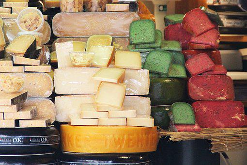 Showcase, Cheese, Houses, Netherlands, Holland