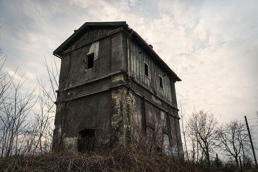 Building, Crash, Railway, Old, Destroyed, Old Building
