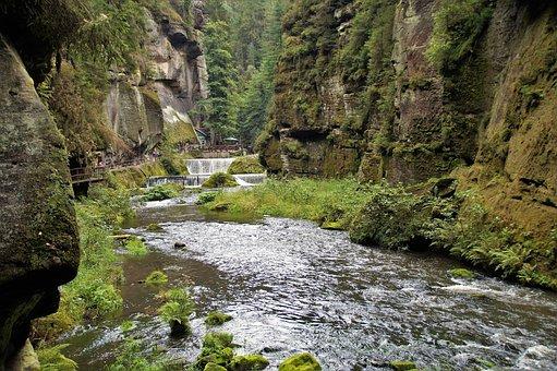 Edmund Gorge, Czech Switzerland, Valley, River