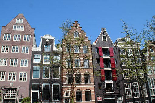 Facade, Netherlands, Old Houses, Multicolor