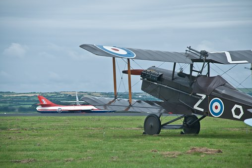 Raf, Biplane, Bi, Plane, Sopwith, Jet, Hunter, Aircraft