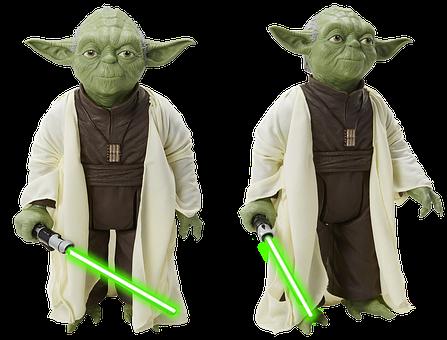 Figure, Star Wars, Isolated, Yoda, Film, Lightsaber