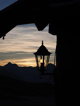 Lantern, Light, Lighting, Evening, Jaufenpass