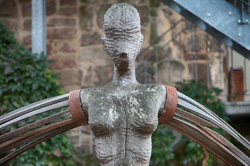 Statue, Wood, Figure, Art, Sculpture, Carving, Old, Log