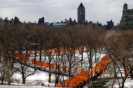 New York, Central Park, Cristo's Gates, Winter