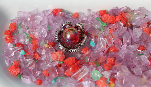 Craft, Beads, Red, Pink, Purple, Turquoise