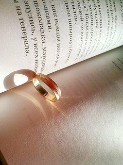 Ring, Engagement, Golden, Gold, Wedding Rings, Love