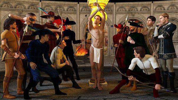 San Sebastian, Arc, Arrows, Martyr, Martyrdom, Torture
