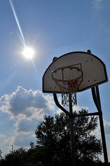 Outdoor Basketball Court, Sunny Day, Houston, Texas