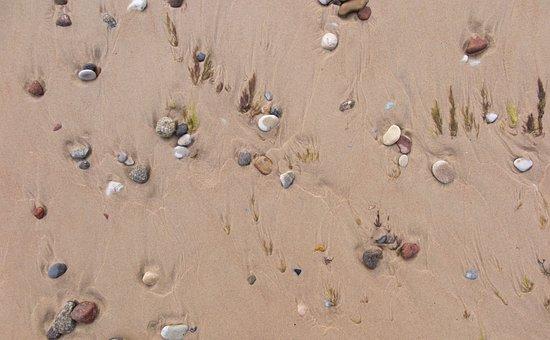 Sand, Stones, Beach, Pattern, Nature, Texture, Harmony