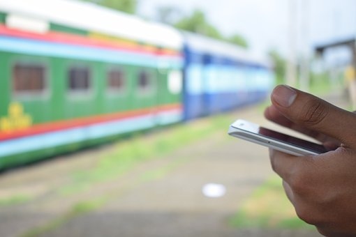 Train, Mobile Phone, Hands, Blurred, Mobile, People