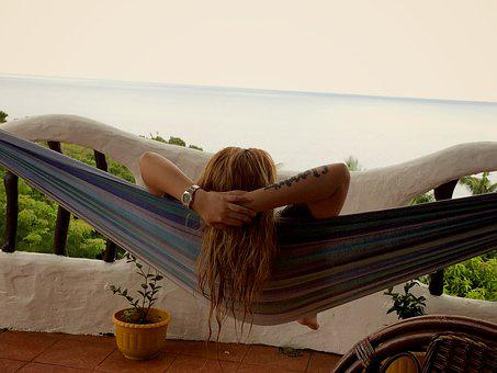 Relax, Enjoy Life, Pinay, Filipina, Hamac, Porch