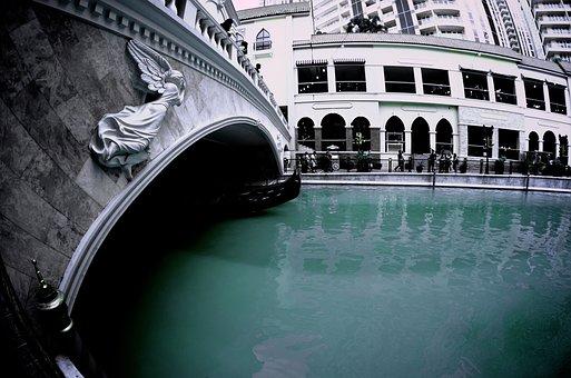Venice, Taguig, Philippines, Bridge, River, Green