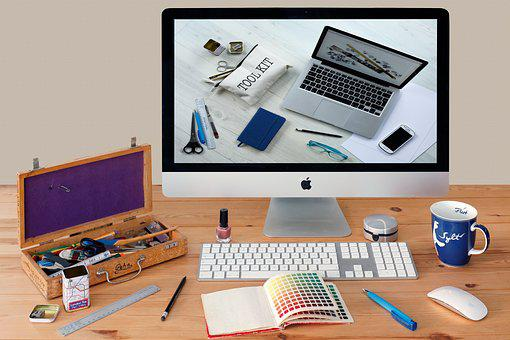 Workplace, Imac, Desktop, Creative, Computer, Mockup